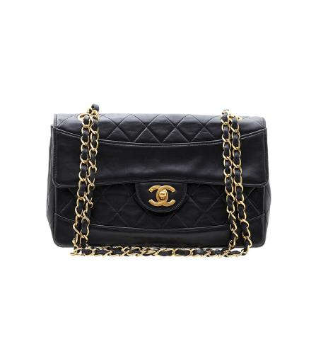 CHANEL VINTAGE SINGLE FLAP SHOULDER BAG