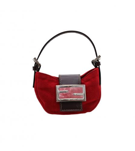 FENDI MINI BAGUETTE BAG RED
