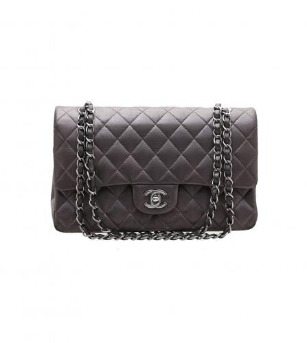 CHANEL 2.55 DARK GRAY SHOULDER