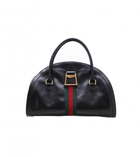 GUCCI VINTAGE BLACK BOWLING BAG