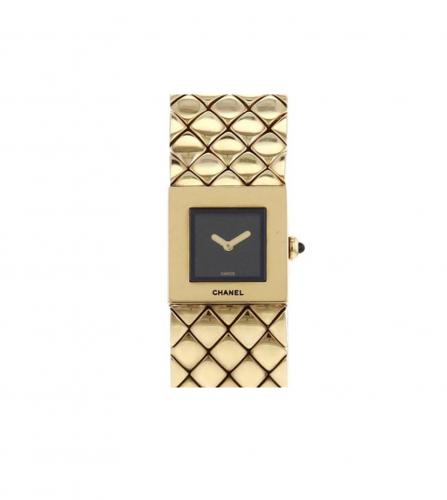 CHANEL MATELASSE GOLD WATCH