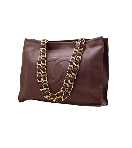 CHANEL BROWN TOTE BAG