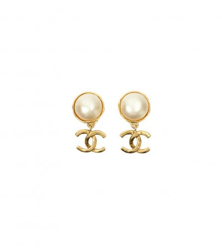 CHANEL PEARL CC EARRINGS