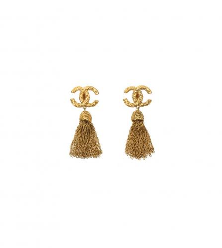 CHANEL CC TASSEL EARRINGS