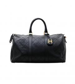 CHANEL BLACK  BOSTON BAG