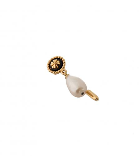 CHANEL CLOVER & PEARL PIN BROOCH