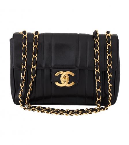 CHANEL JUMBO 30cm STRIPE SHOULDER