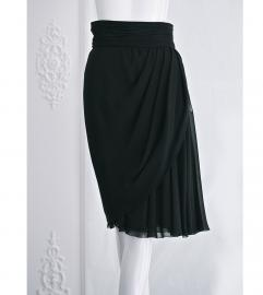CHANEL VINTAGE BLACK SILK SKIRT