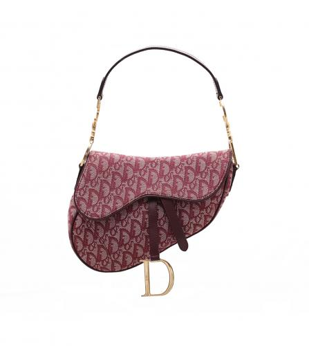 DIOR VINTAGE BORDEAUX SADDLE BAG
