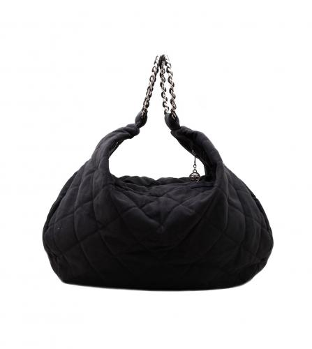 CHANEL BLACK HOBO BAG