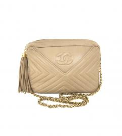 CHANEL BIEGE CAMERA TASSEL BAG