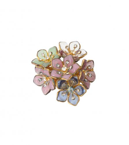CHANEL GRIPOIX GLASSES FLOWER BROOCH