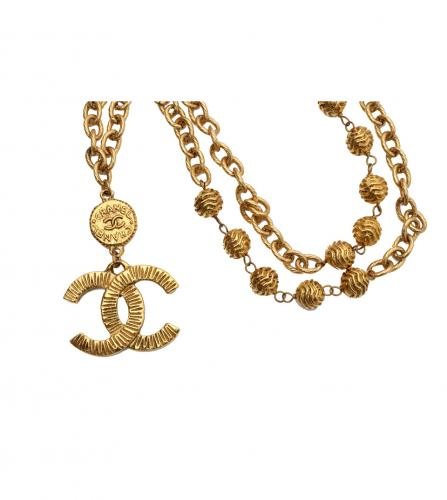 CHANEL CC LOGO LONG NECKLACE