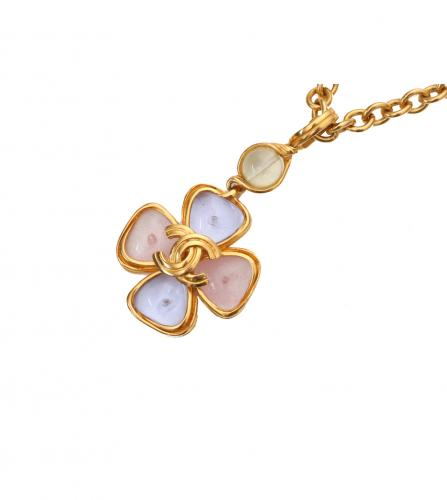 CHANEL GRIPOIX PASTEL FLOWER  NECKLACE
