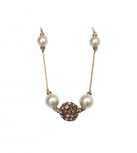 CHANEL PEARL STRASS BALL LONG NECKLACE