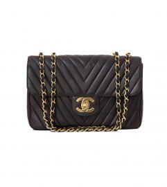 CHANEL XL JUMBO V MATELASSE SHOULDER