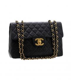 CHANEL MAXI BLACK FLAP 34
