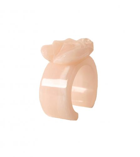 CHANEL CAMELIA PINK RESIN CUFF
