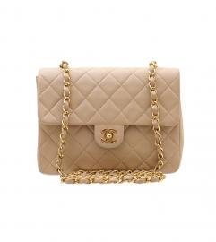 CHANEL BEIGE FLAP BAG 20