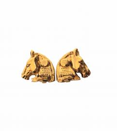 HERMES HORSE EARRINGS