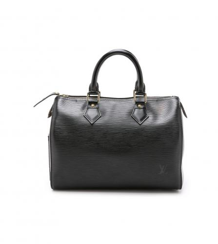 LOUIS VUITTON BLACK EPI SPEEDY 25