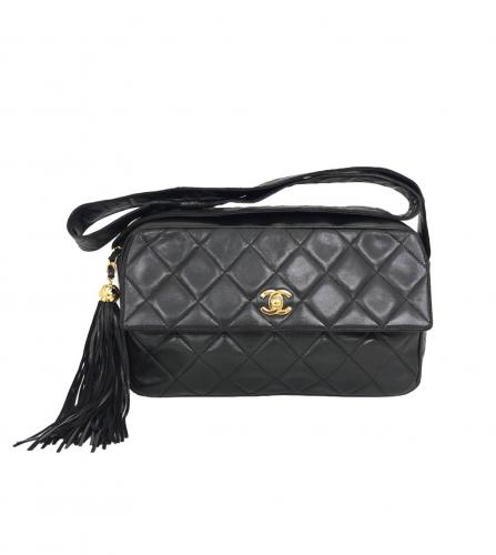 CHANEL TASSEL FLAP MAXI BAG