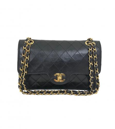 CHANEL BLACK FLAP BAG 23