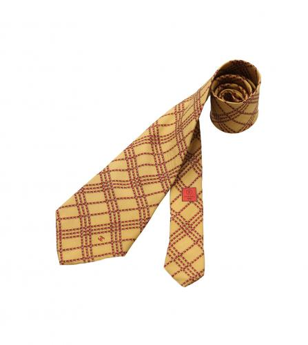 CHANEL CHAIN MOTIF SILK TIE