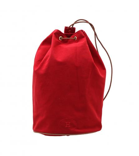 HERMES RED COTTON BACKPACK