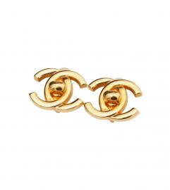 CHANEL VINTAGE CC LOGO CLIP EARRINGS