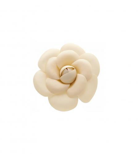 CHANEL CAMELLIA IVORY FLOWER BROOCH / BROCHE