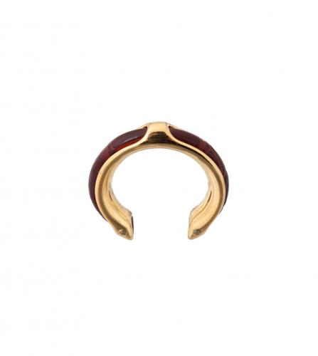 HERMES CROCODILE RING / Scarf ring
