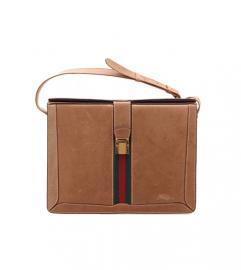 GUCCI CHERRY LINE CAMEL CALF LEATHER SHOULDR
