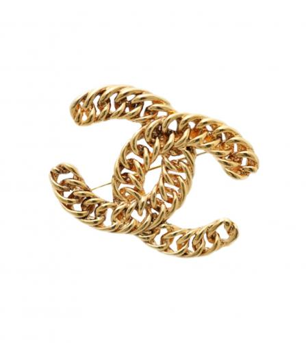CHANEL VINTAGE CC LOGO HUGE BROOCH