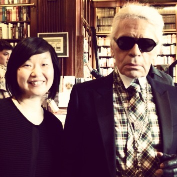 OUR EXPERT FASHION BUYER YUKIKO with Karl Lagerfeld