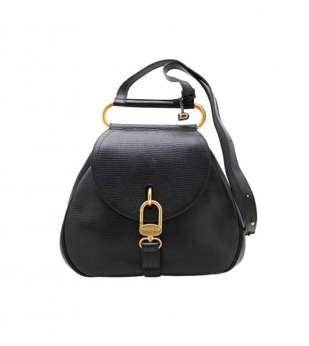 DELVAUX  BLACK 2WAY BAG