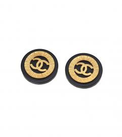 CHANEL VINTAGE CC HUGE EARRINGS