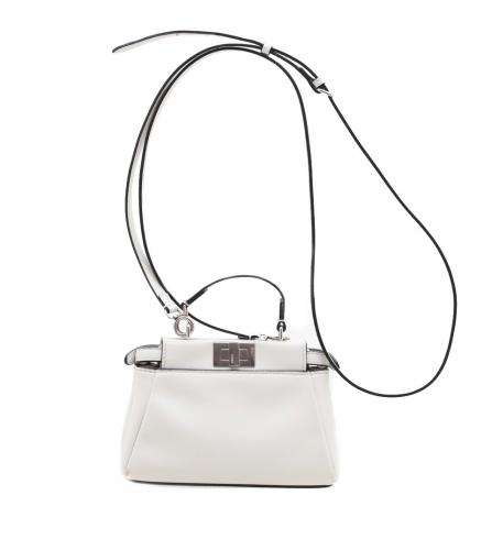 FENDI MICRO PEEKABOO 2 WAY WHITE SHOULDER