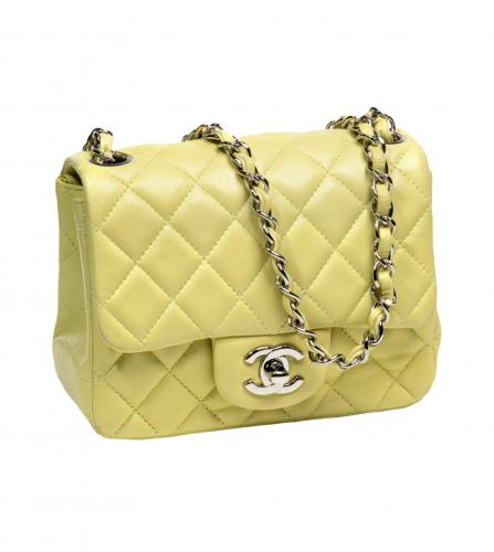 CHANEL ANISE GREEN FLAP BAG